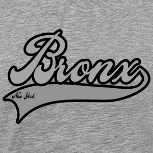 bronx new york grey T-Shirts - Men's Premium T-Shirt