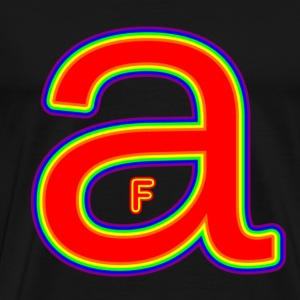 Black F in A Rainbow T-Shirts - Men's Premium T-Shirt