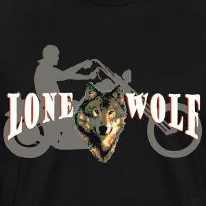 Lone Wolf Tee for Dark Colors - Men's Premium T-Shirt