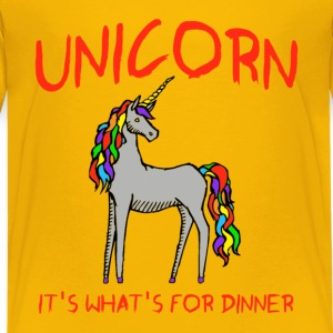 Unicorn It's What's For Dinner Kids' Shirts - Kids' Premium T-Shirt
