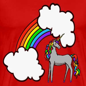 Rainbow Unicorn T-Shirts - Men's Premium T-Shirt