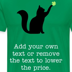 Cat and 4 Leaf Clover T-Shirts - Men's Premium T-Shirt