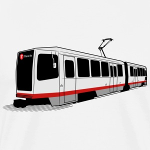 T Third St - San Francisco Muni Train T-shirt - Men's Premium T-Shirt