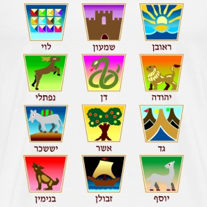12 Tribes of Israel T-Shirts - Men's Premium T-Shirt