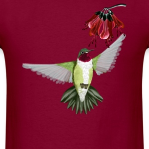 Red Throated Hummingbird - Men's T-Shirt