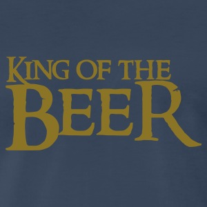 Navy king of the beer T-Shirts - Men's Premium T-Shirt