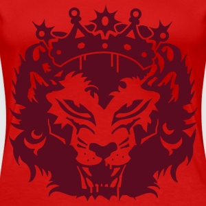 Red The lion's head with crown Plus Size - Women's Premium T-Shirt
