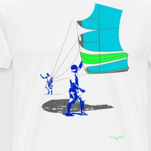 Kite Launch Natural - Men's Premium T-Shirt