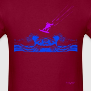 Kitesurfing Wave Burgundy - Men's T-Shirt