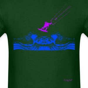 Kitesurfing Wave Dark Green - Men's T-Shirt