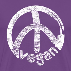 Purple 02_scratched_veganpeace T-Shirts - Men's Premium T-Shirt