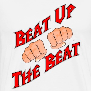 White Jersey Shore Beat Up the Beat T-Shirts - Men's Premium T-Shirt