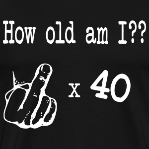 Black Birthday 40 (Vector) T-Shirts - Men's Premium T-Shirt