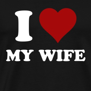 i heart my wife T-Shirts - Men's Premium T-Shirt