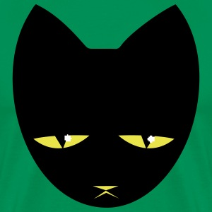 Kelly green BIG UNHAPPY CAT T-Shirts - Men's Premium T-Shirt