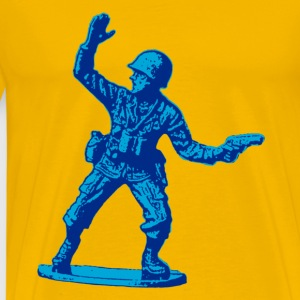 blue toy soldier - Men's Premium T-Shirt