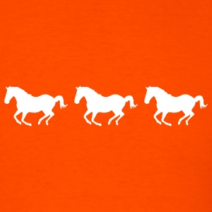 Orange Three Horses Galloping T-Shirts - Men's T-Shirt