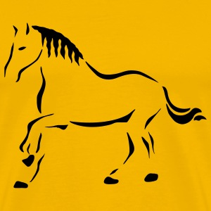 Yellow Horse Art T-Shirts - Men's Premium T-Shirt