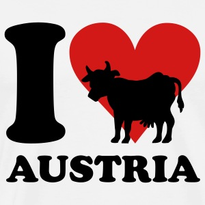 I Love Austria Cow T-Shirts - Men's Premium T-Shirt