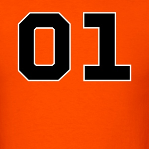 Orange Dukes of Hazzard - General Lee Number T-Shirts - Men's T-Shirt