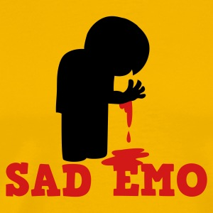 SAD EMO with blood T-Shirts - Men's Premium T-Shirt