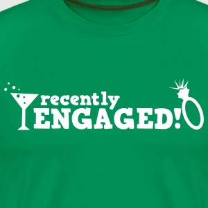 recently engaged with diamond ring! T-Shirts - Men's Premium T-Shirt