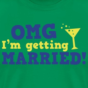 omg im getting married game over cocktail glass T-Shirts - Men's Premium T-Shirt