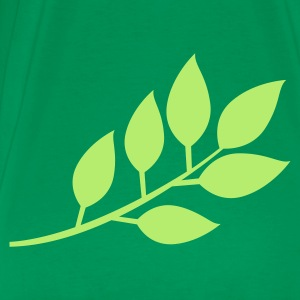 branch with leaves  T-Shirts - Men's Premium T-Shirt