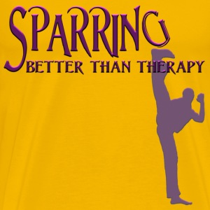 SPARRING: Better Than Therapy (male) - Men's Premium T-Shirt