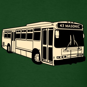 43 Masonic Muni Bus T-shirt - Men's T-Shirt