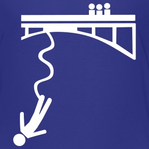 Royal blue Bungee jumping Kids' Shirts - Kids' Premium T-Shirt