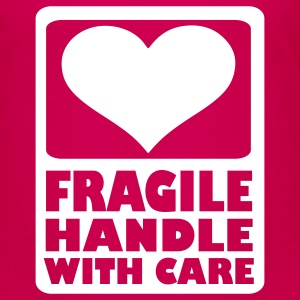 Hot pink Fragile Handle with care Kids' Shirts - Kids' Premium T-Shirt