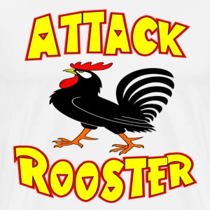 White Attack Rooster T-Shirts - Men's Premium T-Shirt