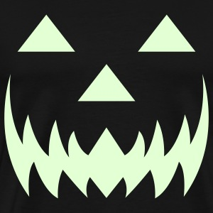 Glow in the dark jack-o-lantern. - Men's Premium T-Shirt