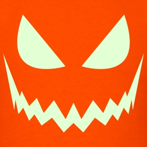 Evil glow in the dark jack-o-lantern - Men's T-Shirt