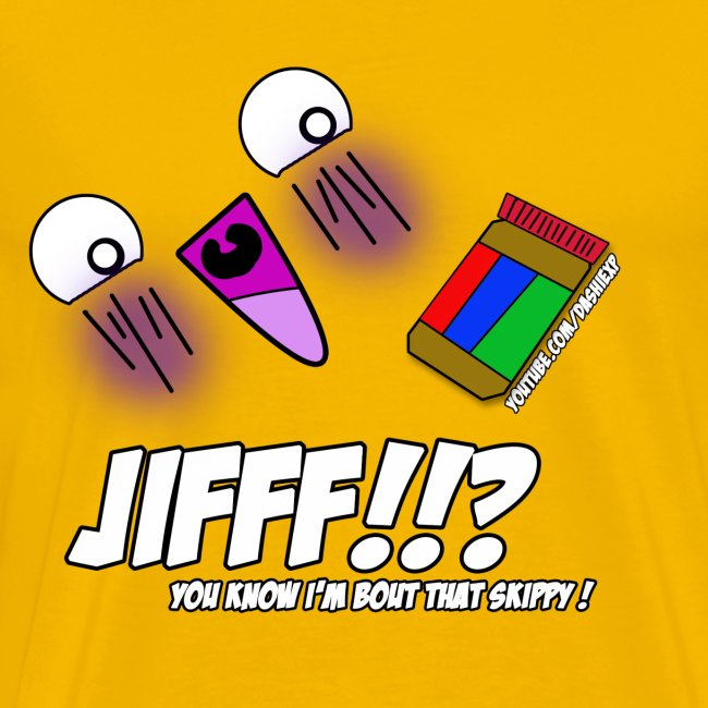 JIFFF!!? T-Shirt (Choose any color!)