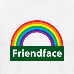 White friend face T-Shirts - Men's Premium T-Shirt