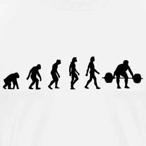 Weight Lifting Evolution (1c) T-Shirts - Men's Premium T-Shirt