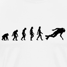 Scuba Diving Evolution (1c) T-Shirts