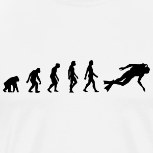 Scuba Diving Evolution (1c) T-Shirts - Men's Premium T-Shirt
