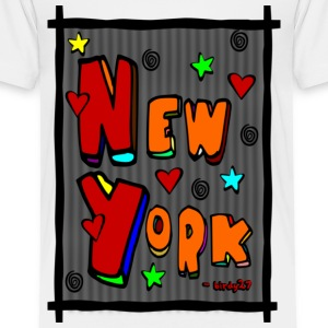 White Funky New York, Art In Frame--DIGITAL DIRECT PRINT Toddler Shirts - Toddler Premium T-Shirt