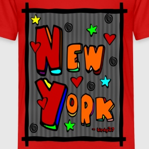 Red Funky New York, Art In Frame--DIGITAL DIRECT PRINT Toddler Shirts - Toddler Premium T-Shirt