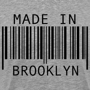 Heather grey Made in Brooklyn T-Shirts - Men's Premium T-Shirt
