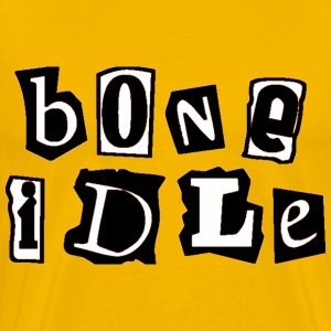bone idle T-Shirts - Men's Premium T-Shirt