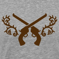 gunslinger guns with thorns trendy embelem T-Shirts
