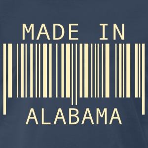 Navy Made in Alabama T-Shirts - Men's Premium T-Shirt