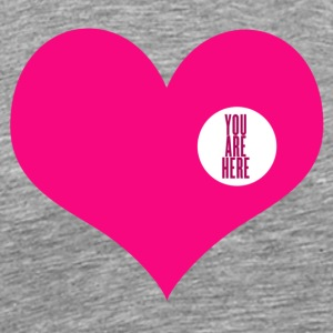 you are here - love and valentine's day gift T-shirts (manches courtes) - T-shirt premium pour hommes