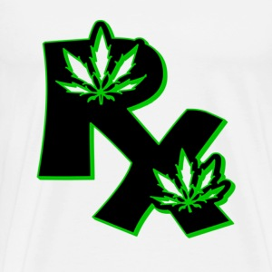 White Medical Marijuana Rx T-Shirts - Men's Premium T-Shirt