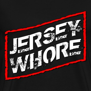 Black Jersey Shore Whore T-Shirts - Men's Premium T-Shirt