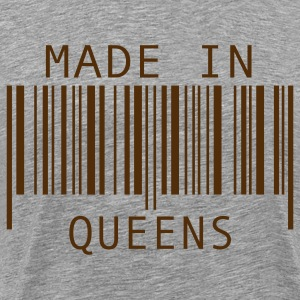Heather grey Made in Queens T-Shirts - Men's Premium T-Shirt